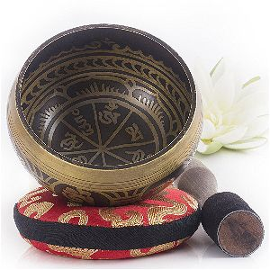 Silent Mind Antique Design Tibetan Singing Bowl Set