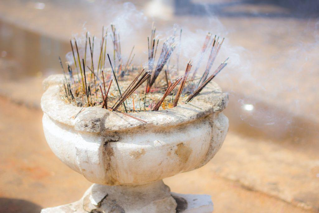 Incense in Urn